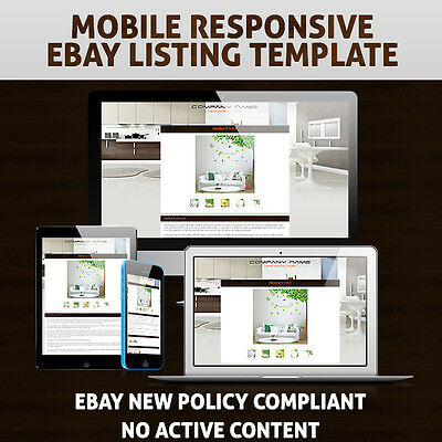Mobile Responsive and Mobile Compatible eBay Auction Listing Template HTML