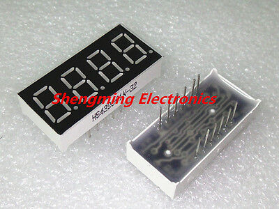 10PCS 0.36 inch 4 digit Red Led display 7 segment Common Anode