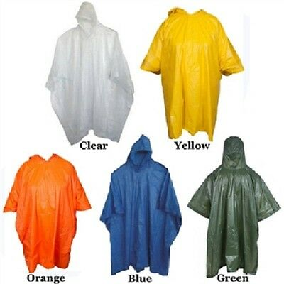 Men's Unisex Raincoat Ponchos, Assorted Colors