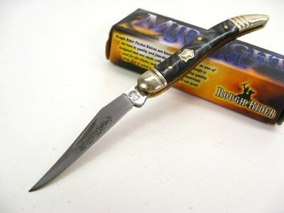 ROUGH RIDER Midnight Swirl BABY TOOTHPICK Straight Folding Pocket Knife! RR962