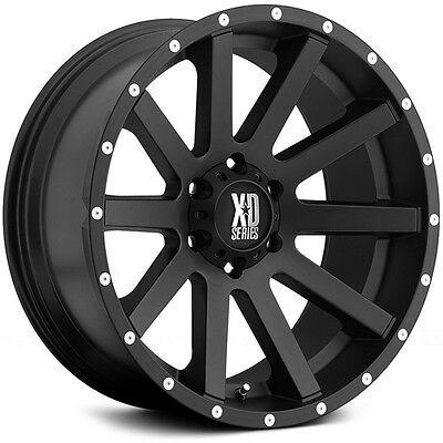 20 X9 Inch Gloss Black Milled Xd 818 Heist Kmc Wheels Fits Ford F150