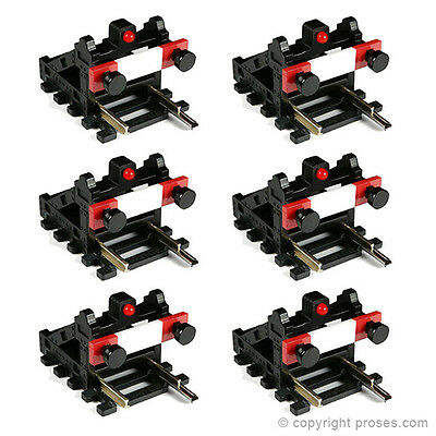 6 Pack Buffer Stop w/Light (DCC, no wires, just plug)