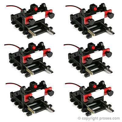 6 Pack Buffer Stops w/Light (DCC, DC, analog, wired version)