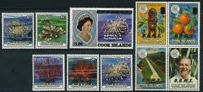 Cook Islands 1986 Official set of 10  MNH