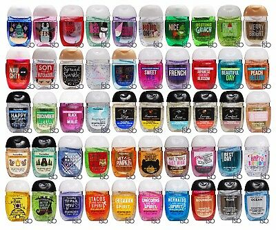 Bath & Body Works New Pocketbac Lot of 40 pcs Assorted Hand Gel New Packaging
