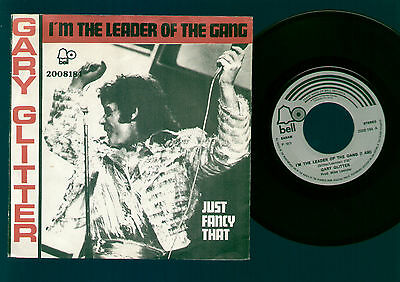 "7"" Gary Glitter I'm The Leader Of The Gang / Just Fancy That 1973 Belgium Bell"