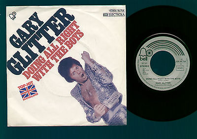 "7"" Gary Glitter Doing All Right With The Boys / Good For No Good Germany 1975"