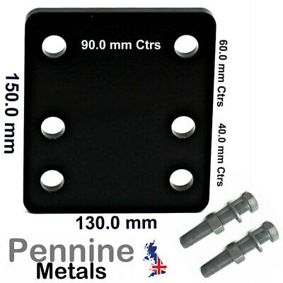 Adjustable Towbar Levelling Drop Plate Heavy Duty Steel With 60mm M16 Bolts