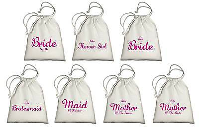Wedding Favour Drawstring Tote Bags - Printed Gift Present Keepsake Hen Party