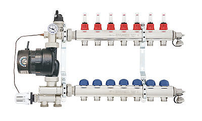 Emmeti Underfloor Heating Manifold with Integrated Pump & Mixing Set