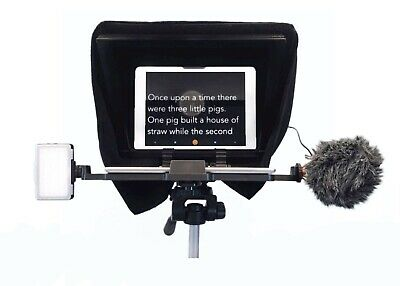PortableTeleprompter iPad Prompter with Beam Splitter Glass