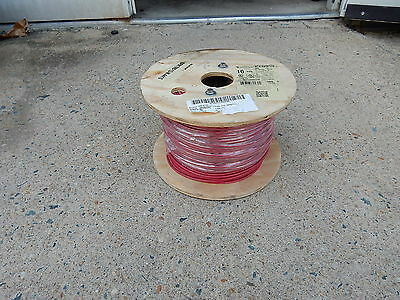 Encore Wire 10 Awg Machine Tool Wire Mtw/Awm/Tew Red  500 Foot Roll