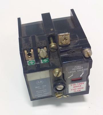 Allen Bradley 115-120V Ac Relay Latch Unit 700-Pll20A1 Ser-B