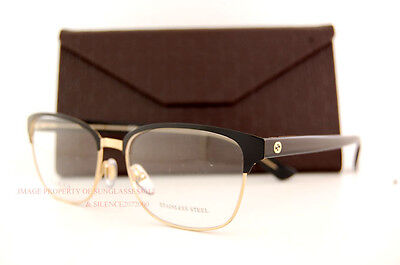 Brand New GUCCI Eyeglass Frames 4272 2CG Black/Gold For Women 100% Authentic