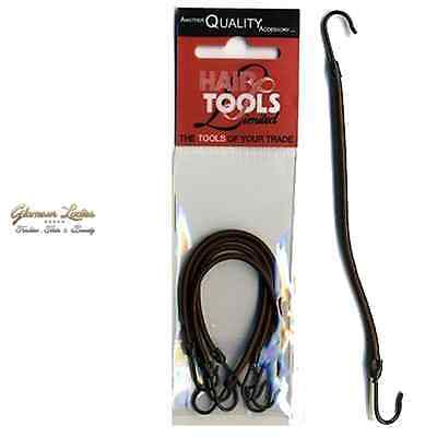 4 x Black Hair Tools Bungee Hair Hooks For A Variety Of Hair Dressing Uses