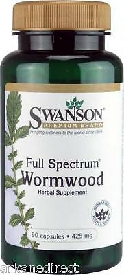 Wormwood, Strong 425mg Dose, 90 CAPSULES, Artemisia Annua, Sweet Annie - BARGAIN