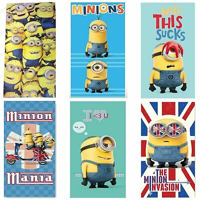 Despicable Me Minions Beach / Bath Towels Kids Holiday Swimming 100% Cotton