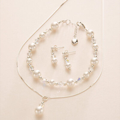 Bridal Wedding Jewellery Set, White or Ivory Pearls, for Bride or Bridesmaids
