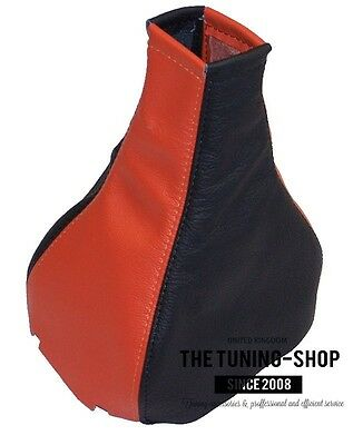 Fits Vauxhall Cavalier Opel Vectra A Gear Gaiter Cover Leather Black & Orange