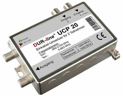 DUR-line UCP 20 Einkabellösung Unicable Router Splitter (2 Receiver an 1 Kabel)