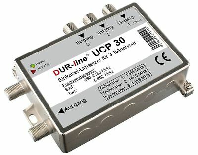 DUR-line UCP 30 Unicable Router Splitter Einkabellösung  3 Receiver an 1 Kabel