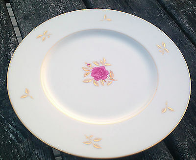 Lenox Rhodora P471 Gold Leaves Pink Rose Cream 1 Dinner Plate Classic 50046 USA