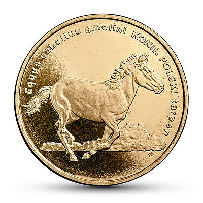 2014 Coins of Poland 2zl - Animals of the World - Polish konik horse