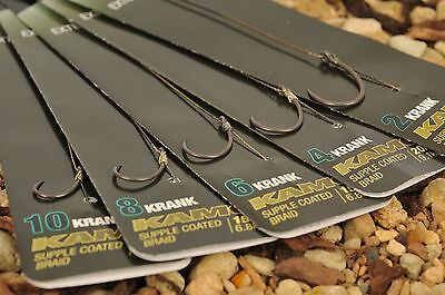 Korda NEW Krank Hook Rig Ready Pre Tied Carp Fishing Rigs x3 *All Sizes & Types*