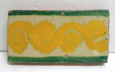 Mexican Vintage Decorated Border Tiles Mexico