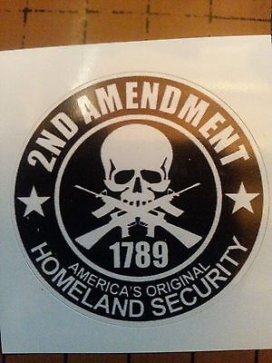 78cf5d6120e 2nd Amendment Hard Hat Vinyl Sticker Helmet Decal Label Motorcycle Gun  Rights