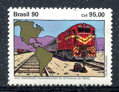 Brazil 1990 18th Pan-American Railways Congress  MNH