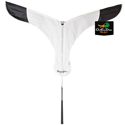 New Tanglefree Snow Goose Flag Flapping Landing Motion Decoy White