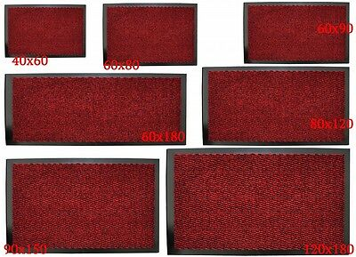 Large Non-Slip Red Entrance Floor Door Mat Heavy Duty Commercial Barrier Mats