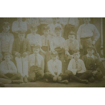 Lot of 2 Antique Boys Cricket Club Photos Montgomery College Sheffield UK Grosve