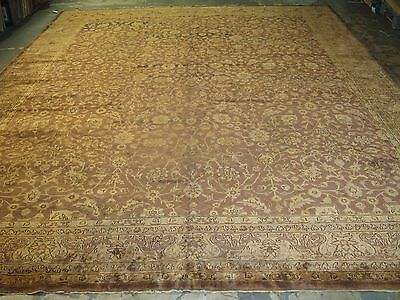 Semi-Antique Fine Turkish Hereke Oushak Rug 11'9 x 14'7 Hand Knotted Wool