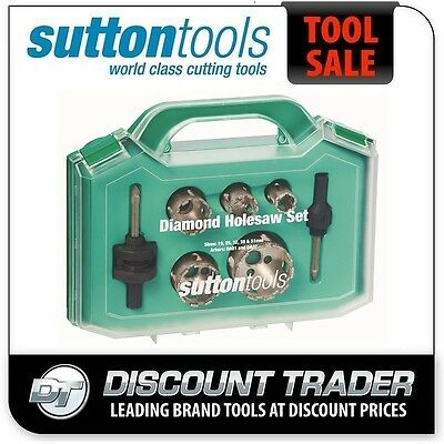 Sutton Diamond Grit Holesaw Set H115 7 Piece H1150007