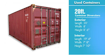 Shipping Containers 20ft standard Straight and secure