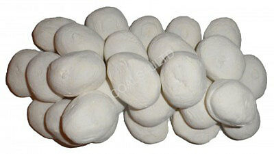 WELSH GREY WHITE GAS+FIRE REPLACEMENT PEBBLES-COALS ROUND FLAT BASE 10//20//30//40