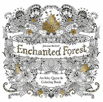 Enchanted Forest: An Inky Quest & Coloring Book by Johanna Basford (Paperback)