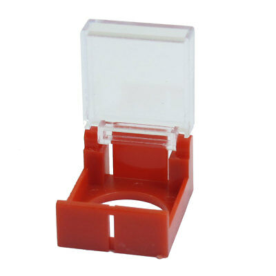 Emergency Push Button Switch Red Clear Protector Cover 16mm