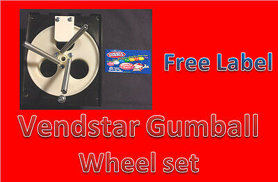 """Vendstar Vending Machine 1"""" Gumball Wheel Sets With FREE LABELS"""