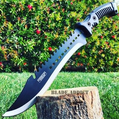 """15.5"""" HUNTING SURVIVAL FIXED BLADE MACHETE Tactical Rambo Knife Sword Camping"""