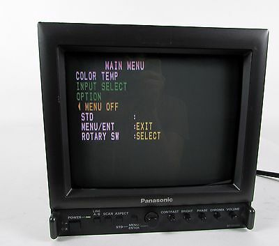 "Vintage "" PANASONIC - Model# BT-S915DA "" Broadcast 9"" Color Video Monitor"