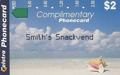 Australia $2 limited edition Complimentary magnetic phonecard Smith's Snackvend