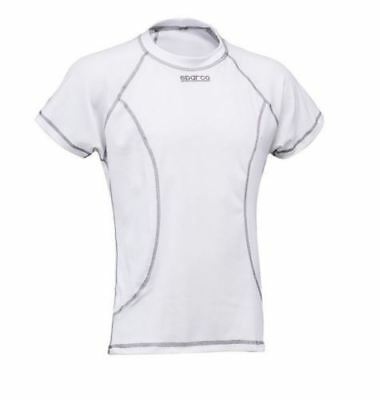 Sparco Short Sleeve Top T-Shirt Basic stretch WHITE COOLMAX FREE DELIV