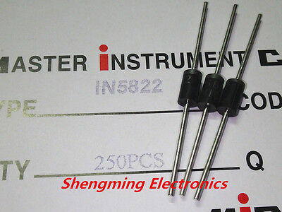100pcs 1N5822 40V 3A SCHOTTKY DIODES IN5822