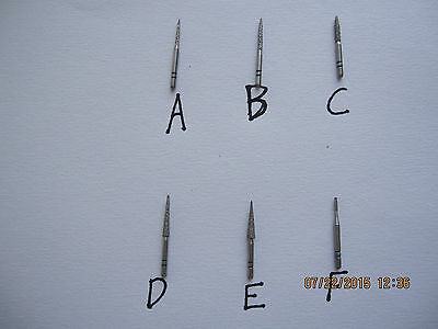 Wholesale Lot of 25 premier two striper dental diamond burs, brand new