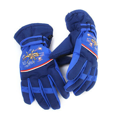 Kids Boys Girls Windproof Ski Snow Gloves Winter Gloves Waterproof 8-10 Yrs