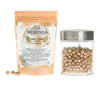 Organic Roasted Moringa Seeds - 50gr - Aphrodisiac - Beneficial For Fertility