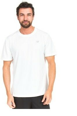 Mens New Balance White Lightning Dry Training Running Casual T-Shirt Three Sizes